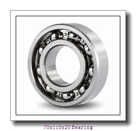 Marine mechanical cylindrical roller bearing NU1014ECP Size 70X110X20