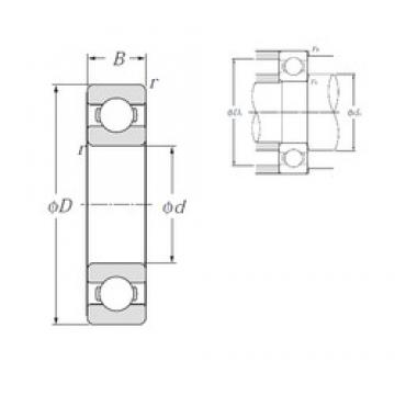 70 mm x 100 mm x 16 mm  NTN 6914 LLU Deep Groove Ball Bearing 6914LLU