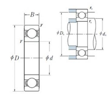 120 mm x 215 mm x 40 mm  Japan NSK bearings 6224 6224zz 6224-2rs deep groove ball bearing