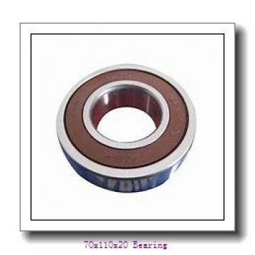 High speed internal combustion engine Angular contact ball bearing 7014CDGA/VQ253 Size 70x110x20